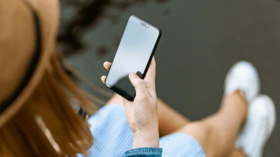 Woman messaging