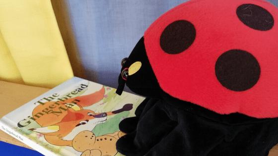 Puppet show ladybug