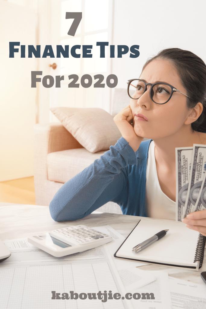 7 Finance Tips For 2020