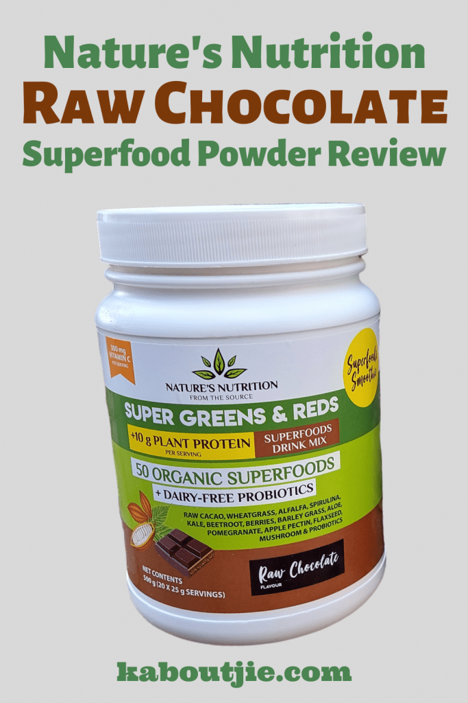 Nature's Nutrition Raw Chocolate Superfood Powder Review