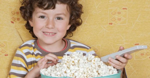 Child with popcorn