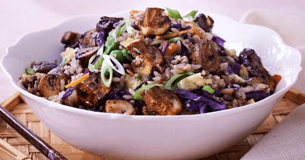 Chinese Style Mushroom & Mixed Grain Stir-fry