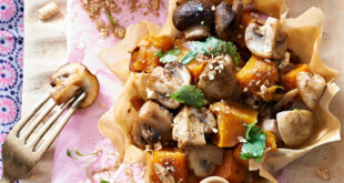Moroccan Spiced Mushroom and Butternut Tartlets