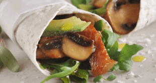 Mushroom Pork Avocado Wraps
