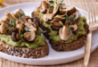 Wholewheat Toast With Guacomole and Lemony-Fried Mushrooms