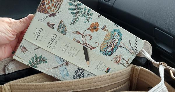 Dragonfly Designer Floral Hard Cover Journal