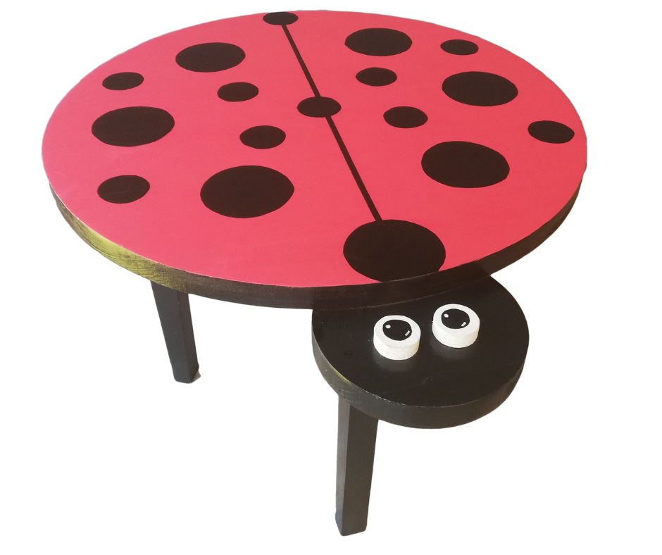 Pips and Moo Ladybird Table