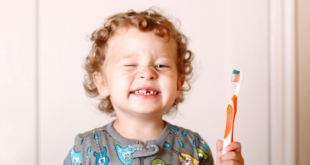 Toddler Holding Toothbrush