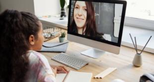 Girl Student Learning Online