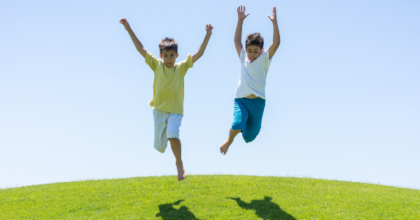 Healthy Kids Jumping