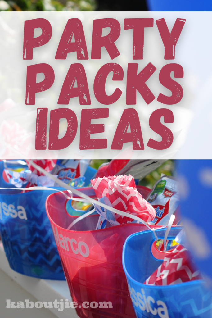party packs Ideas - What To Put In party Packs