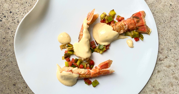 Langoustine, Leek and Red Pepper Rougaille