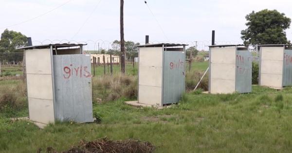Pit latrine toilets at schools