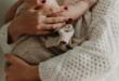 Cuddling baby