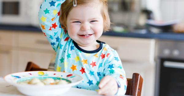 Happy girl eating