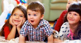 Children Watching TV Together