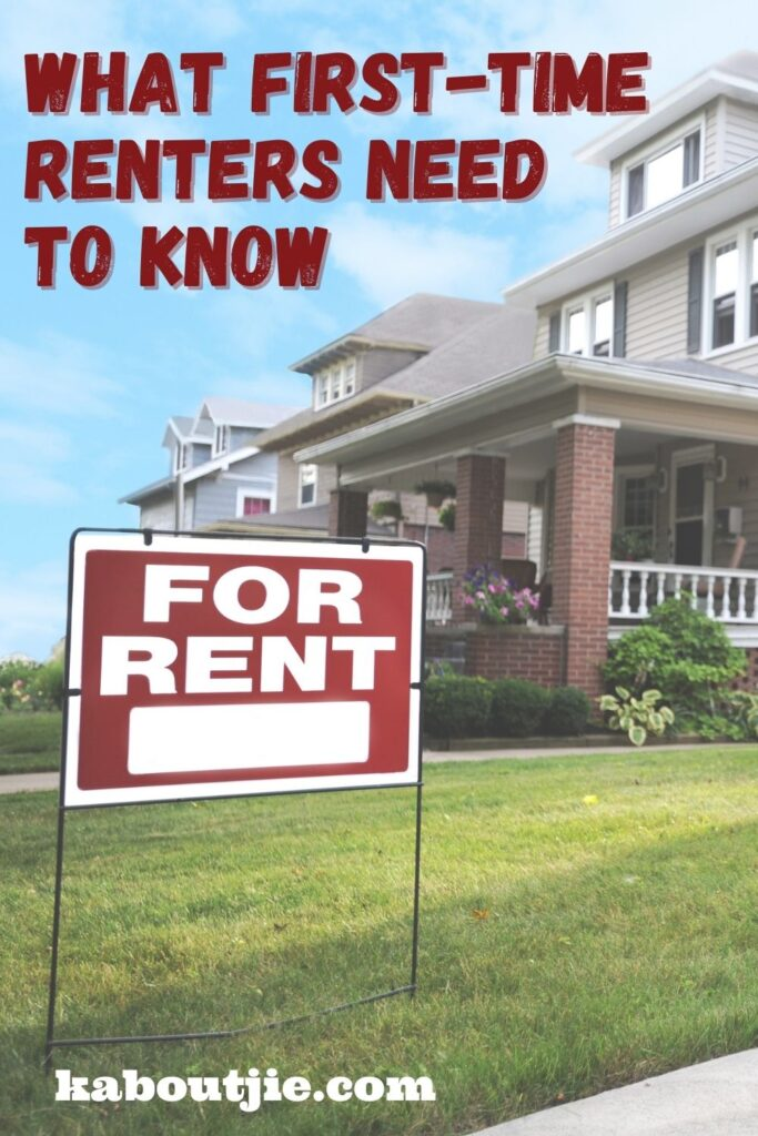 What First-time Renters Need To Know