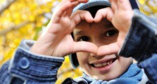 Happy kid heart