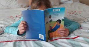 Daughter reading REMY
