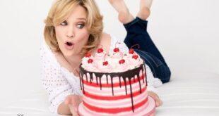Grace Stevens With Cake