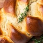 Plaited honey bread