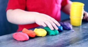 Playing playdough school