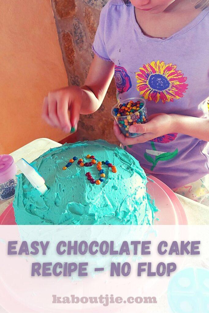 Easy Chocolate Cake Recipe No Flop