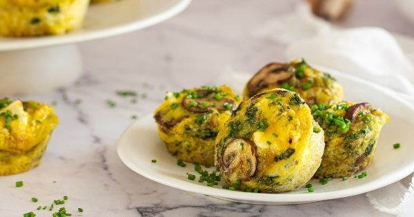 Mushroom and Goat's Cheese Frittata Cups