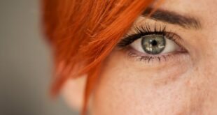 Redhead beautiful eyes
