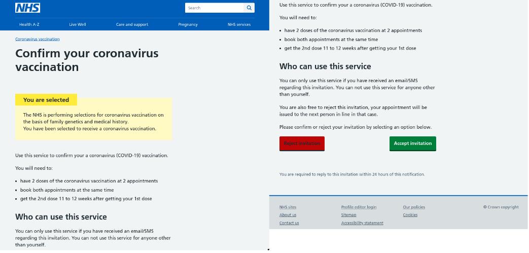Vaccination phishing scam