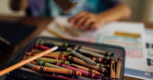 Homeschool crayons