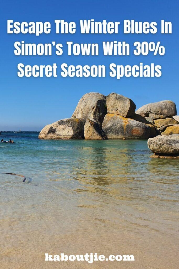 Simon's Town Secret Season Specials For Winter