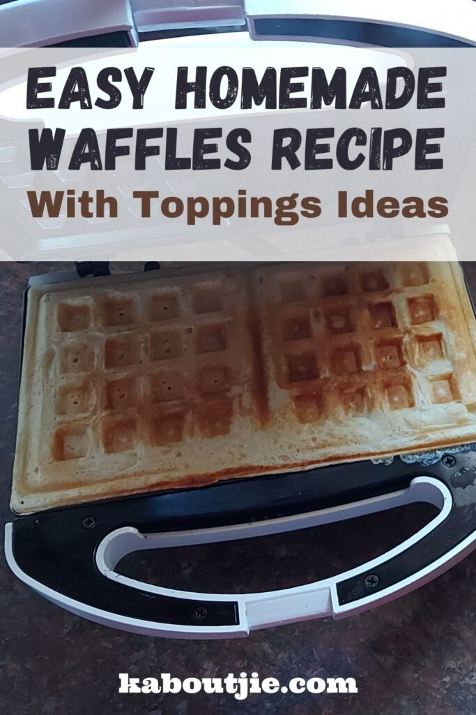 Easy Homemade Waffles Recipe with Toppings ideas
